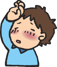 インフルエンザで熱が出ている