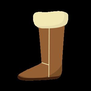 スエードブーツの片足