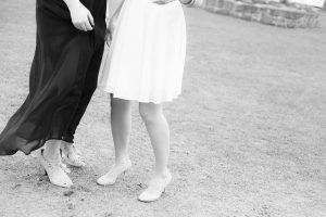 白と黒の服