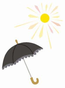暑い時の日傘