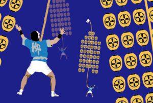 秋田竿燈のお祭り