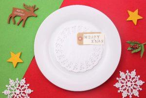 クリスマスプレートのカード