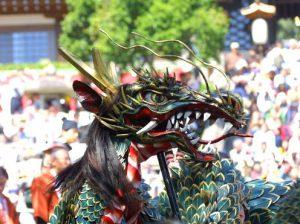 長崎くんちの獅子舞