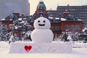 北海道の雪だるま