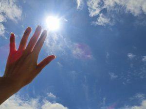 日差しが強くて紫外線が心配