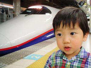 新幹線と幼児