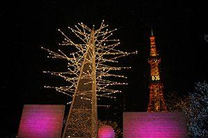 夜の札幌イルミネーション