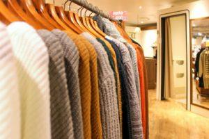洋服の販売