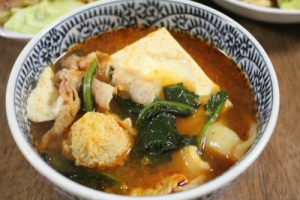 豆腐ピリ辛スープ