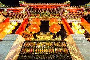 夜の横浜中華街