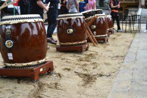 太鼓の演奏