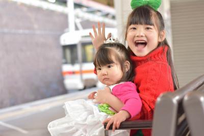 赤ちゃんと子供と電車