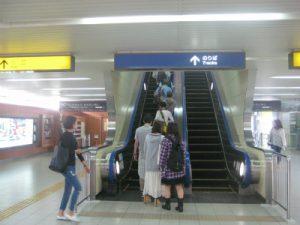 大阪のエスカレーター