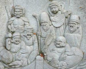 七福神の彫刻