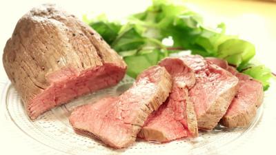 ローストビーフと野菜
